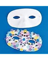 Plastic White Half Masks (2 dozen) - Bulk [Toy]