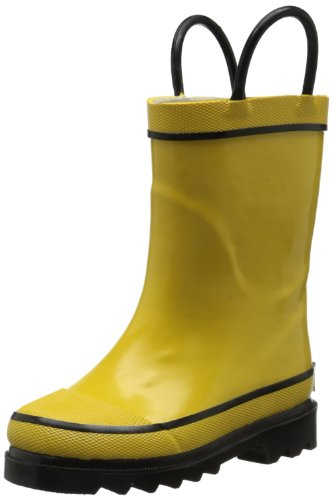 Western Chief Firechief 2 Navy Rain Boot (Toddler/Little Kid/Big Kid),Yellow,1 M Us Little Kid