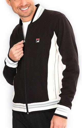 Fila Vintage Cotton Jacket, Black / Gray Dark / Quarry, X-Large