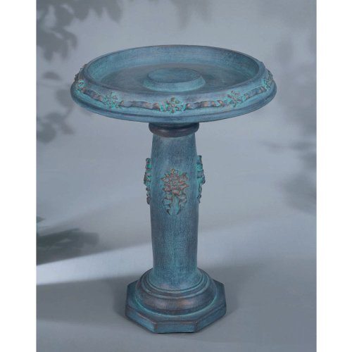 Henri Studio Ribbon Bird Bath_Pompeii Antique Ash