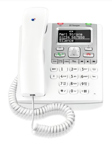BT Paragon 550 Corded Telephone Answering Machine - White