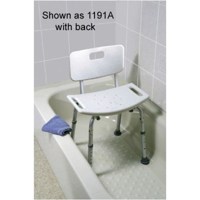 Ready Set Go Tool Free Bath Bench with Back with Carry Bag