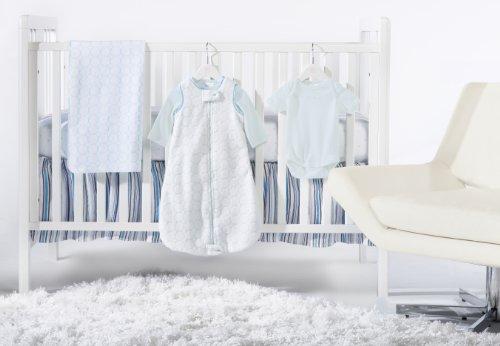 SwaddleDesigns 6 Piece Crib Bedding Set with Crib Skirt, Pastel Blue, 0-6months