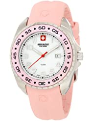 Swiss Military Calibre Women's 06-6S1-04-008 Sealander Pink Mother-of-Pearl Rotating Bezel Rubber Watch