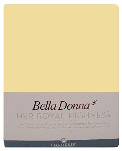 Formesse Bella-Donna Jersey Spannbettlaken hellgelb, 180x200 - 200x220 cm