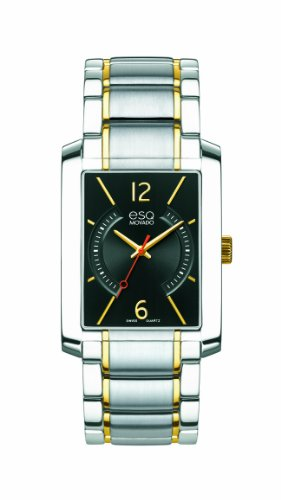 ESQ Movado Men's 07301412 esq SYNTHESIS tm Rectangular Two-Toned Watch