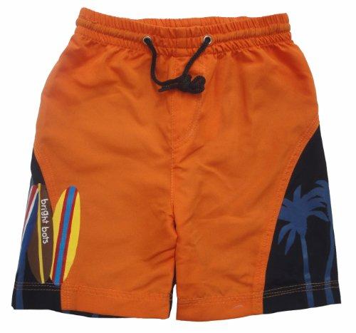 Bright Bots Boys Orange and Navy Board Shorts / Swim Shorts size 6-12Months