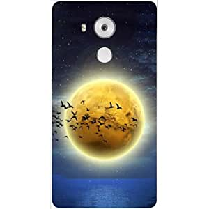 Casotec Moon View Design 3D Hard Back Case Cover for Huawei Mate 8