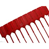 100 X RED SECURITY TAGS NUMBERED PULL TIES SECURE ANTI-TAMPER SEALS