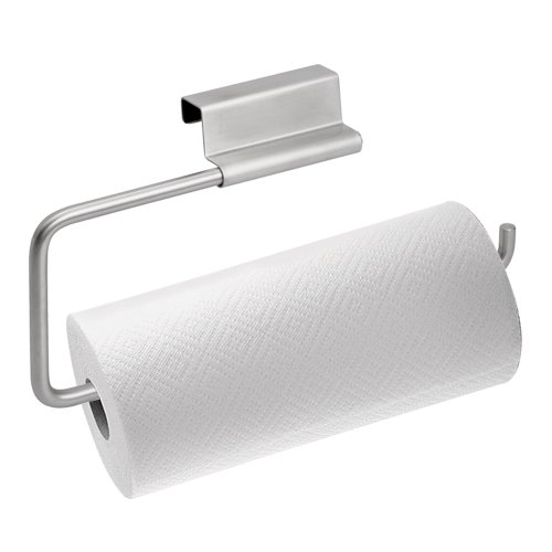 InterDesign Axis Over the Cabinet Kitchen Paper Towel Holder, Chrome