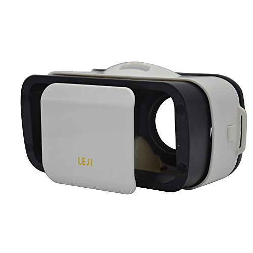 Blomiky VR Mini VR BOX 3D Headset Glasses Virtual Reality Glasses,Portability just 6.5oz/175g with Adjustable Pupil and Focal Distance Design For 4.7 to 6Inch Smartphones IOS Android Cellphones White
