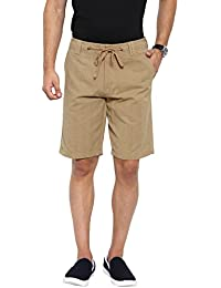 Showoff Men's Khaki Solid Chino Shorts