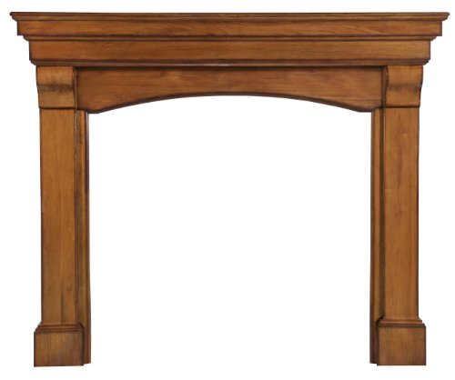 Pearl Mantels 195-48-50 Blue Ridge Fireplace Mantel, Distressed Oak Finish with 48-inch Interior Opening (Distressed Fireplace compare prices)