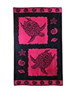 Natural History Gifts Toalla Playa Lux Mod 79 (Fucsia / Negro)