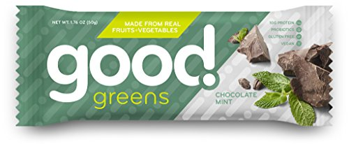 Chocolate Mint Protein Bars, Gluten-Free, Dairy-Free & Vegan (12 Bars) - Great Source of Fruits & Veggies, Plant-Based Proteins, Probiotics & Fiber | Good! Greens (Pomegranate Apple Sauce compare prices)