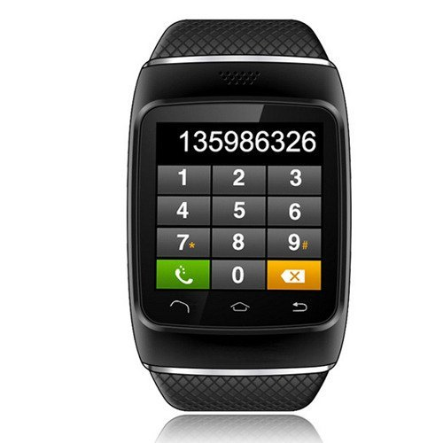 Generic GSM Touch Screen Smartwatch Phone 2MP Camera Bluetooth SMS Call (Black)