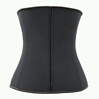 PIXNOR Frauen Latex Unterbrust Korsett Wasist Cincher Body Shaper Shapewear - Größe L (schwarz) by PIXNOR