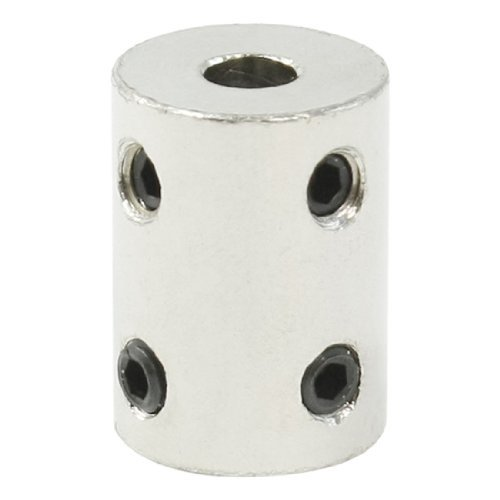 Dimart 6Mm To 10Mm Silver Tone Bore Electric Car Toy Motor Wheel Coupling Joint