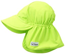 Flap Happy Baby Girls\' Upf 50+ Swim Flap Hat, Lime, Large