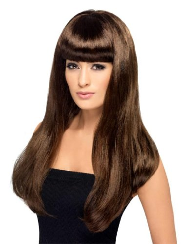 Smiffy'S Babelicious Wig, Brown, One Size