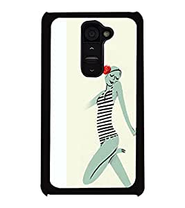 Fuson 2D Printed Girly Designer back case cover for LG G2 - D4546