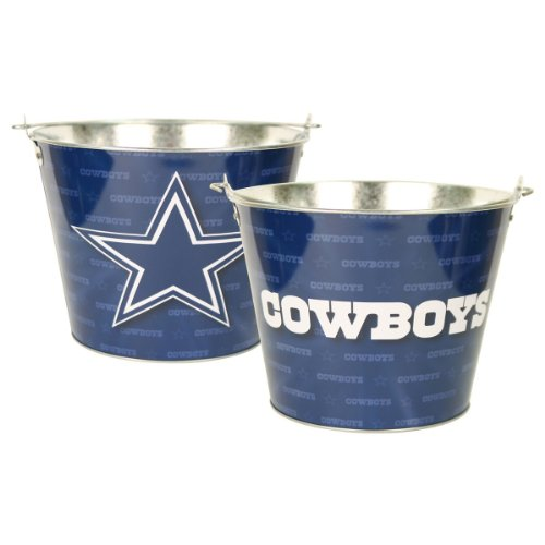 Dallas Cowboys Nfl Metal Logo Repeater Beer Bucket With Handle (Holds 6 Longneck Bottles With Ice) front-36371