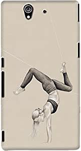 xperia z back case cover ,Yoga Moves Designer xperia z hard back case cover. Slim light weight polycarbonate case with [ 3 Years WARRANTY ] Protects from scratch and Bumps & Drops.