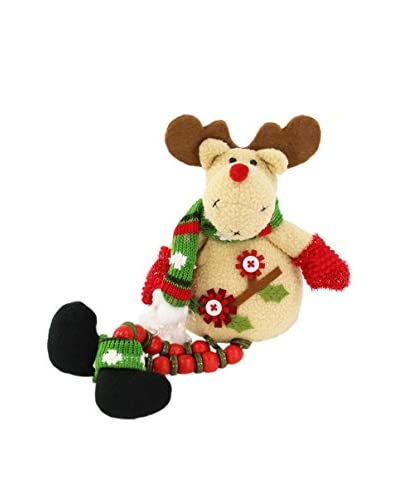 Figura Decorativa Reno Sentado Navidad