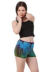 Mojeska Handmade Women's Tie dye print stretchable Booty Shorts