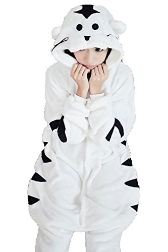 Women Men White Tiger Unisex Adult Animal Sleep Suit Cosplay Kigurumi Costume Pajamas Outfit Costume Nightclothes Onesies Clothing Pajamas Tracksuit