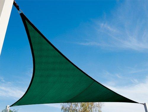 16' Coolaroo® Triangle Shade Sail Kit, BRUNSWICK GRN