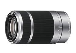 Sony E 55-210mm F4.5-6.3 OSS Lens for Sony E-Mount Cameras (Silver)