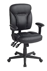 Techni Mobili Multifunctional Ergonomic Chair, Black