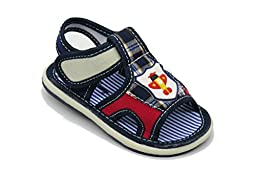EASY21 Cute Open Toe Infant Toddler Boys Summer Sandal with Velcro Baby-303,Blue,Size 9