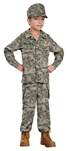[California Costumes Soldier Costume, One Color, 6-8] (Child Army Soldier Costumes)