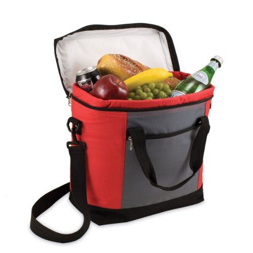 Picnic Time Montero Insulated Cooler Tote (Red/Gray)