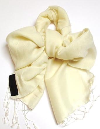 Silk Scarf Cream Silk Scarf 100% Pure Silk wear as silk bows or