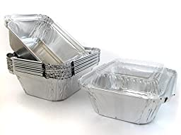 Disposable Aluminum 1 Lb. Carry out Pan with Clear Plastic Lid #220P (50)