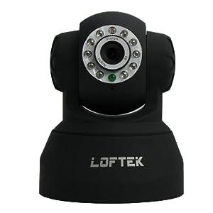 LOFTEK® CXS 2200 Wireless/Wired Pan:270° & Tilt:120° Dual Audio Alarm Ip camera,15 Meter Night vision,3.6mm Lens ,67° Viewing Angle, Easy installation. Black.