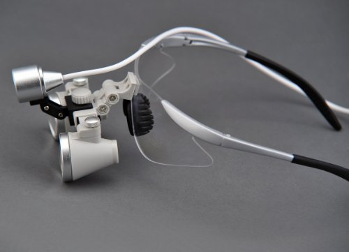 Ultra-Light High Quality 2.5X Binocular Dental Loupes Surgical Loupes & High Brightness Headlight Silver-Gray Colour Tp Sport Frame