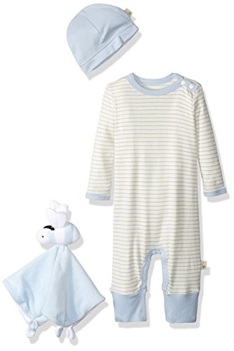 Burt's Bees Baby Cozytime Organic Layette Gift Set, Sail Blue, 0-3 Months