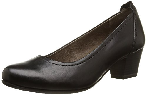 Tamaris 22306, Decolleté chiuse donna, Nero (Schwarz (schwarz (BLACK001))), 41