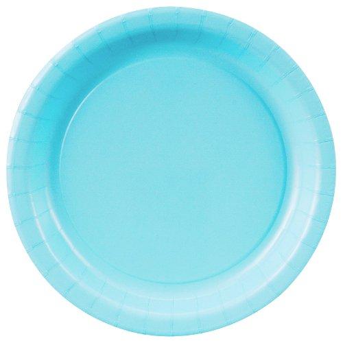 Pastel Blue Dessert Plates (Round)