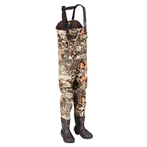 Hodgman DRMG1000MX412-ST Dura-Mag 1000-Gram Neoprene Chest Wader with Boot, Max-4,... by Hodgman