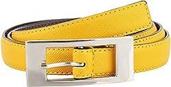 Midas Women's Belt (H611_34 , Yellow)