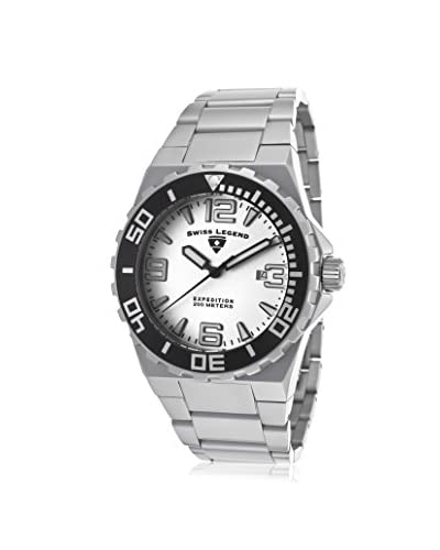 Swiss Legend Men's 10008-22S Expedition Analog Display Swiss Quartz Silver Watch