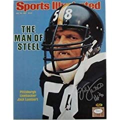 Buy Jack Lambert Steelers Signed 11x14 Sports Illustrated Teeth Photo HOF 90 JSA - Autographed NFL... by Sports Memorabilia