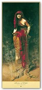 Priestess of Delphi Art Poster Print by John Collier, 18x40
