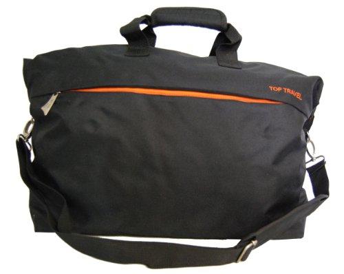 Reisetasche Top Travel 49cm erweiterbar - Schwarz