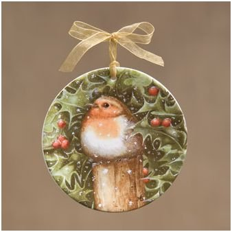 Robin Mini Plate Ornament